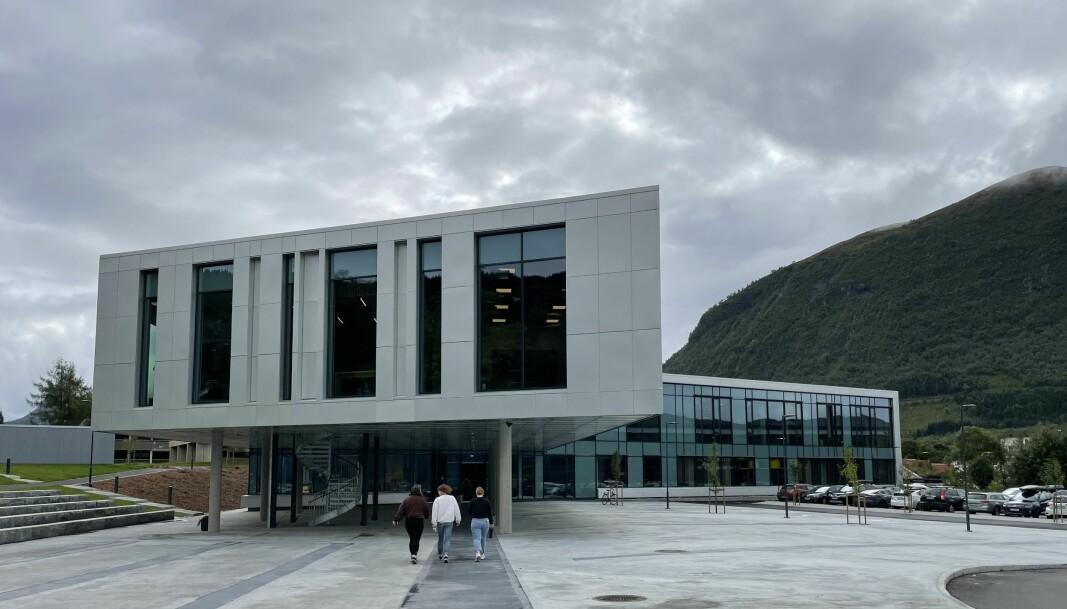 SKUE: Det nye mediebygget ved ved Høgskulen i Volda, Sivert Aarflot-huset. Bygget har en prislapp på over 250 millioner norske kroner.