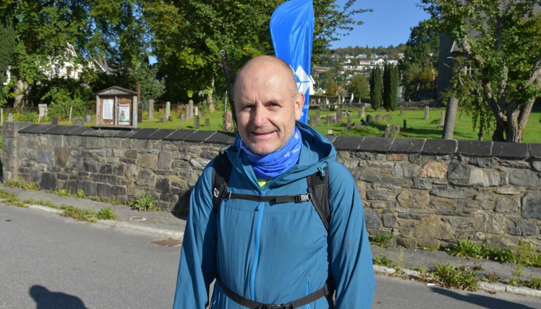 SPENT: Svein Aam før start.