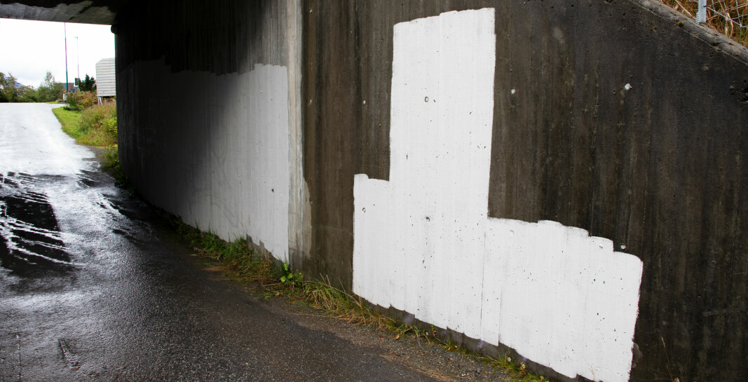 ROTEVASSPORTEN: I Rotevassporten har hvitmaling erstattet graffitien.