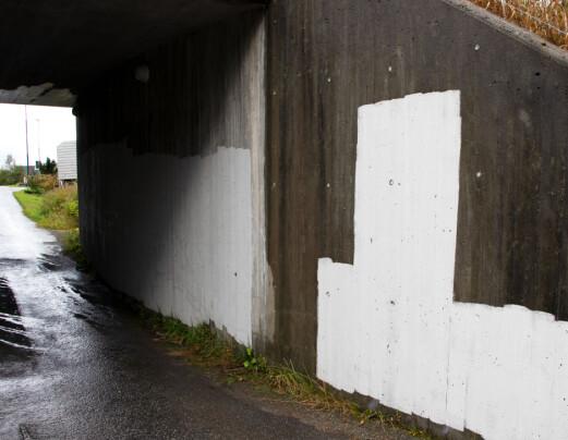 Graffitien har blitt dekt over: – Det er forståelig, men kjedelig