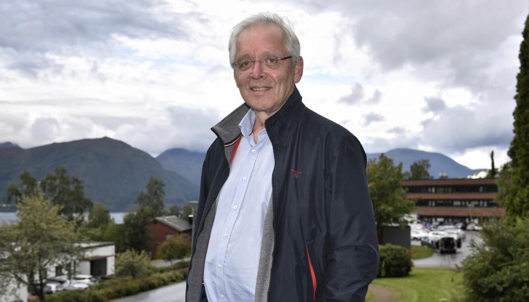 LEDER: Gruppeleder for KrF i kommunestyret i Volda, Arild Johannes Iversen, er fortsatt optimistisk før valget.