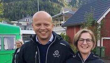 SENTERPARTIET: Sp-ordfører Sølvi Dimmen sammen med partileder Trygve Slagsvold Vedum.