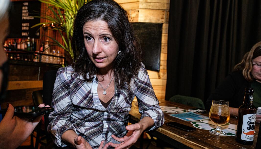 ÅLESUND: Jenny Klinge på valgvake i Ålesund