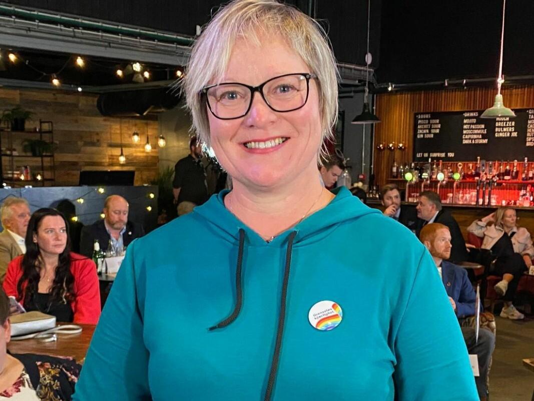 Lena Landsverk Sande fikk ikke plass på Stortinget, men er fornøyd med å fortsette som ordfører i Vanylven.
