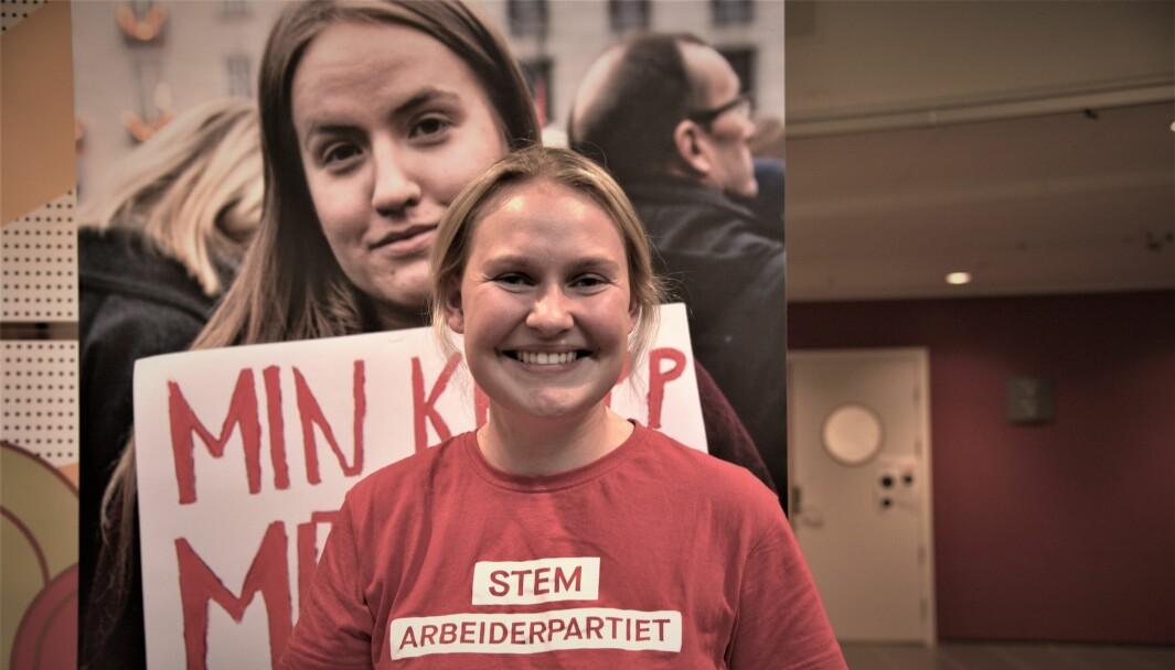 Åse Kristin Ask Bakke dro til Høgskulen i Volda i den siste uken av valgkampen. Der lovet hun studentene å kjempe for deres fremtid.