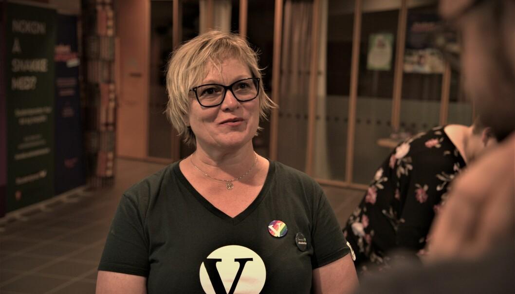 Lena Landsverk Sande kjempet til siste slutt, men ble ikke Stortingspolitiker. Hun er uansett ved godt mot, og sier det viktigste var at Venstre kom over sperregrensen.