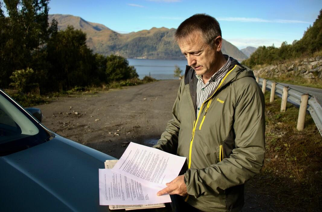 MOTSTAND: Oddvin Bjerkvik har slåss mot torskeoppdrettt i Voldsfjorden helt siden planene til Gadus Group ble offentliggjort.
