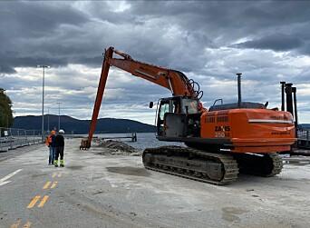 RIVES: 1. september startet rivningsarbeidet. Prosjektet er i startfasen.