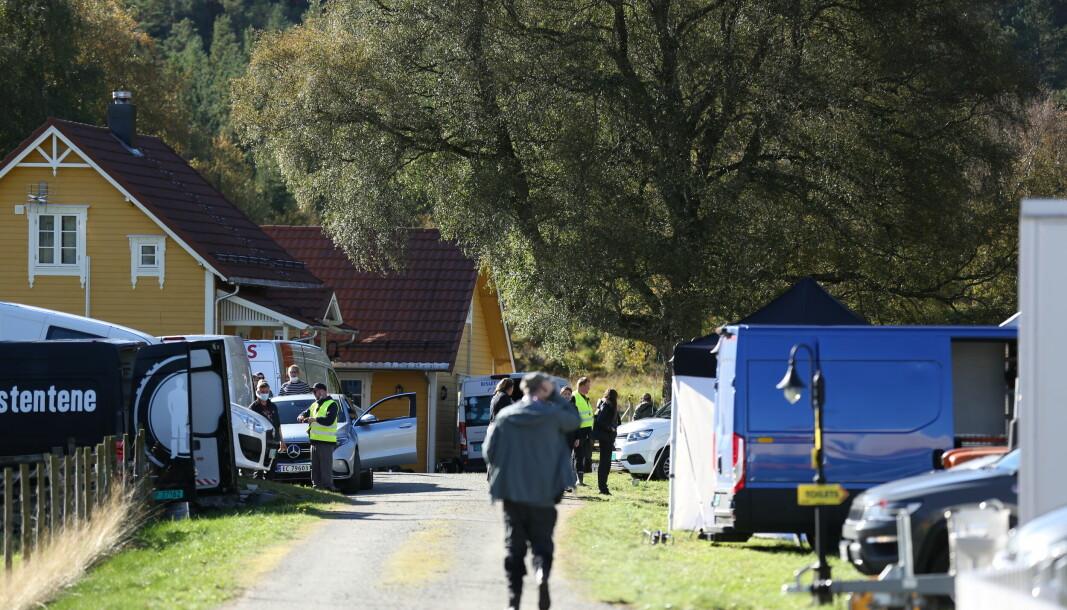 ACTION!: Her har filmcrewet base – i et koselig lite nabolag i Tjørvågen.