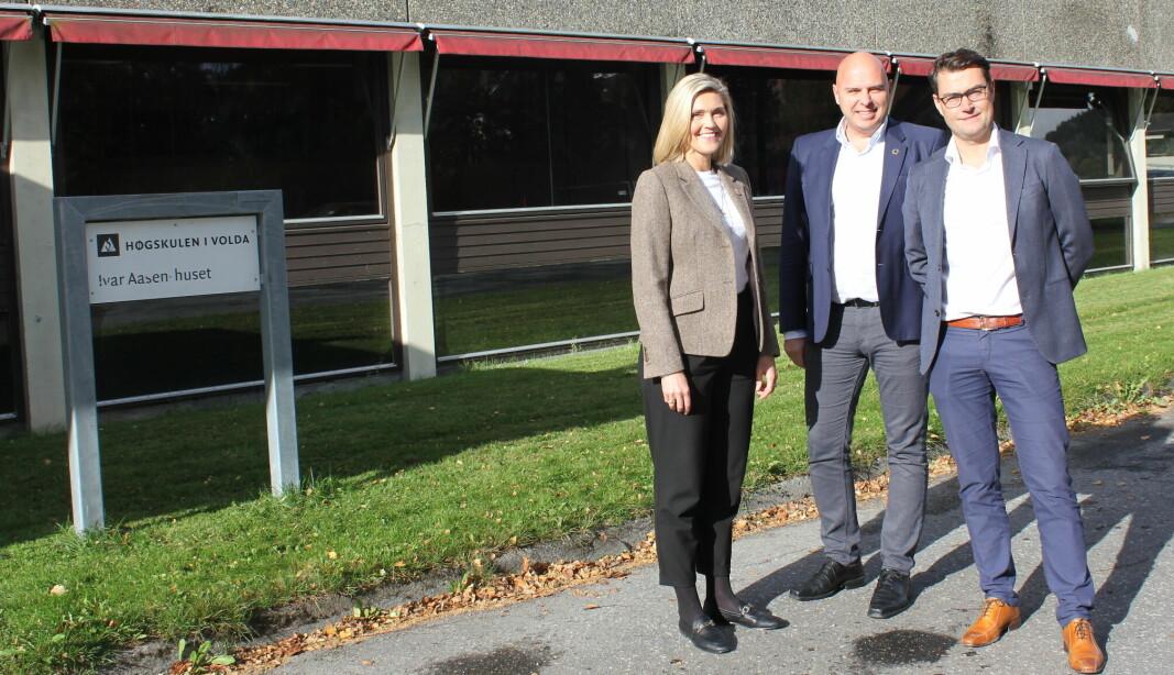 AASEN: Styret i Volda utvikling AS har store ambisjoner for Ivar Aasen-huset. Det skal erstattes med fem bygg som skal leies ut. Høgskulen i Volda ønsker også å bruke det nye Aasenkvartalet når det er klart.