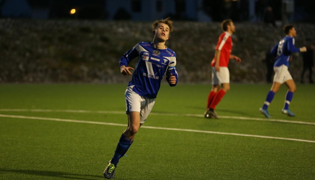 AMBISJONER: Hugo Dimmestøl ønsker å rykke opp med Vartdal i debutsesongen som kaptein.