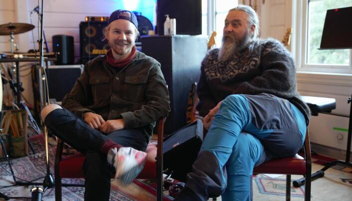 BANDKOLLEGAER: Marius Andreas Myklebust og Hans Førde spiller på konsert sammen for første gang fredag 1. oktober.
