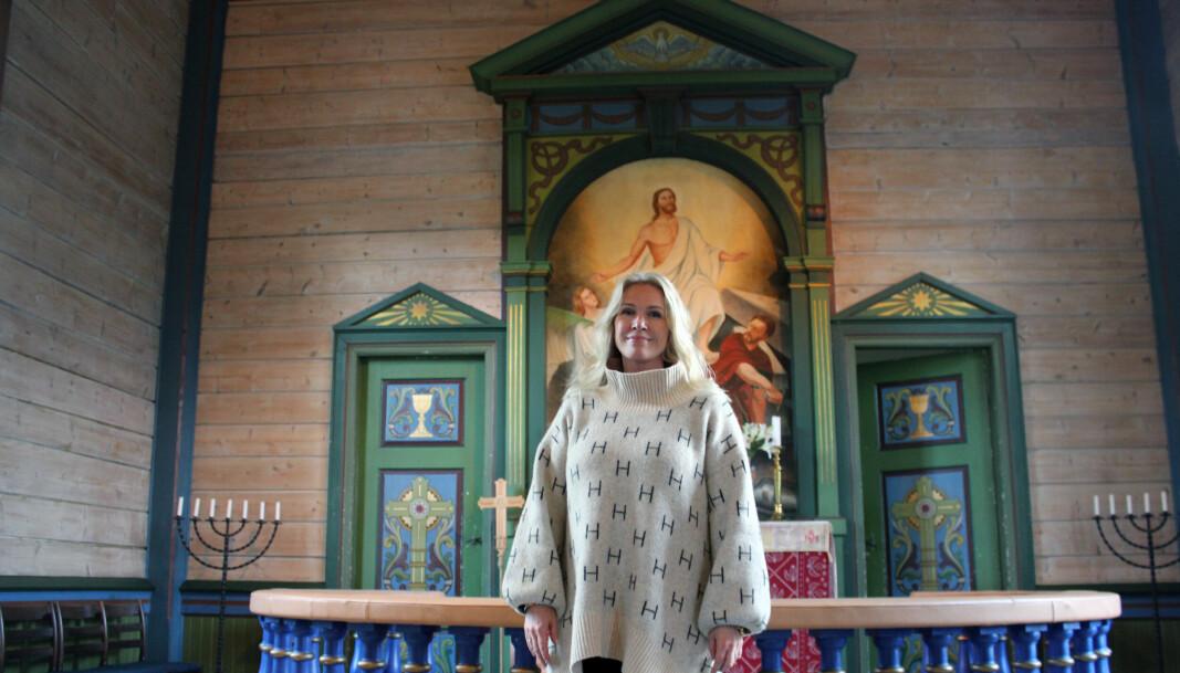 RIKTIG YRKE: Margit Lovise Holte elsker å være prest, og setter særlig stor pris på menneskemøtene.