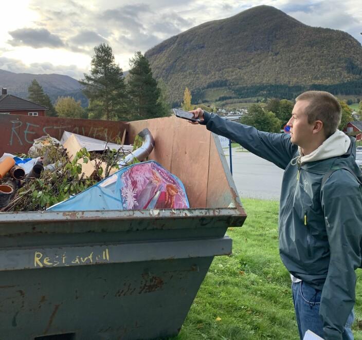 Nærnetts reporter Kristian Krystad kastet teltet