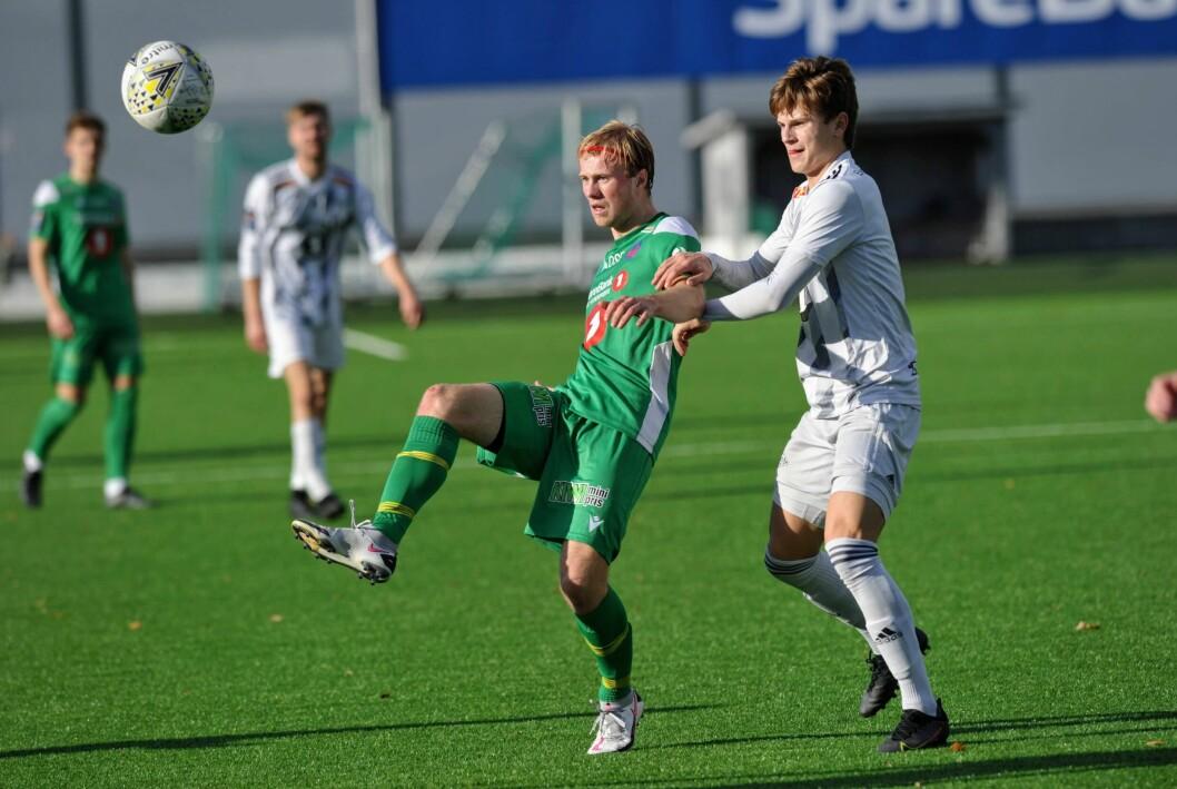 SCORET: Knut Erik Myklebust satte inn sesongens sjuende scoring mot Melhus.